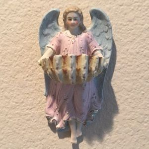 Vintage European Angel Holy Water Vessel
